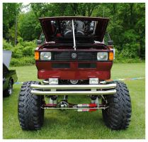1981 VW 4x4 Truck Front View by TheMan268