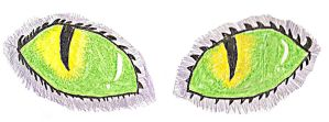 Cheshire cat eyes by musas2