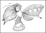 . : Fairy Line Art 2 : . by Rogue-Of-The-Night