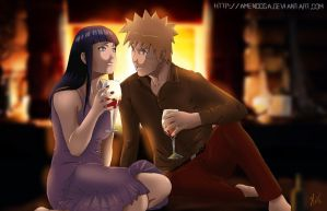 NaruHina - One happy night by Amenoosa