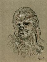 Chewbacca Drawing by Stungeon