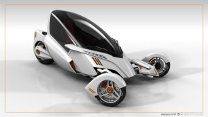 Messerschmitt KR2000EV white/front/studio/unfolded by xiiid