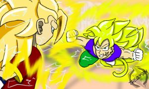 Super Saiyan 3 Joey vs. Goji by JoeyTheMostAwesome
