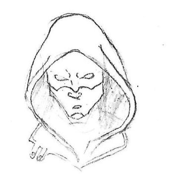The Ghost Hood-Original Character Design Sketch by figaro9885