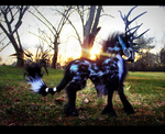 --SOLD--Poseable Arctic Tundra Stag! by Wood-Splitter-Lee