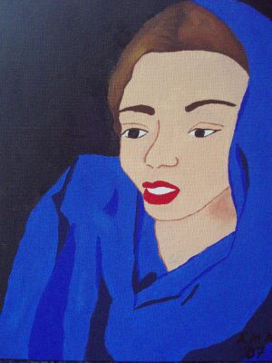Woman in blue by erlam18