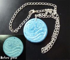 Katara's necklace on a chain by Selofain