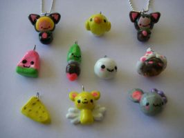 New Charms by Rach and Jas by live-laugh-draw