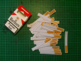 Sticker - Cigarettes by Spank-the-racoon