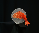 Koi and Water Motif - Tsumami Kanzashi by japanesesilkflowers
