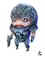 Mass Effect Grunt Chibi by We-Chibi