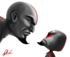 Kratos vs... by Angela-Song-Art