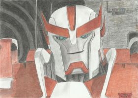 Transformers Prime: Ratchet smiling by LadyIronhide