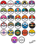 All Poke Balls - Free Icons by TamarinFrog