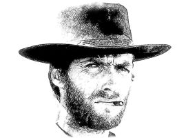 Clint Eastwood by idrawsky
