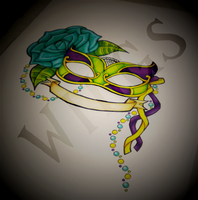 Mardi Gras Friendship Mask by WingsDurus