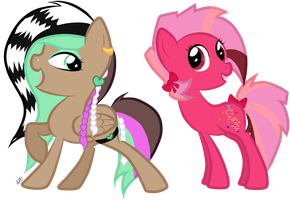 CM: Madame Prettyfeather and Dulcet Harmony by sararini
