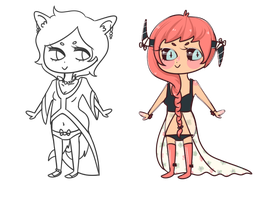 draw to adopt adoptables! by ellecats