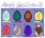 anything egg batch 20- stripes and curliques open! by Honeebunny