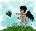 Cas and the Bumblebee by JenniferElluin