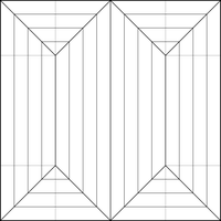Double Trident Crease Pattern by OrigamiPhoenix