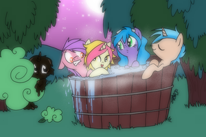 Hothothot Tub Tich and friends by PeachPalette