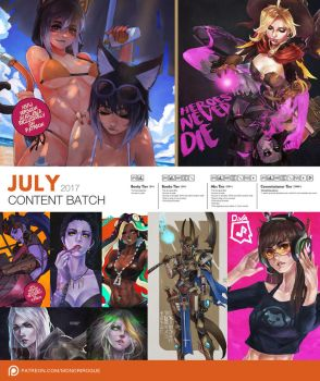 Patreon July 2017 Content Preview by MonoriRogue
