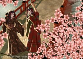 Com - Dance of Geisha by ClaireLyxa