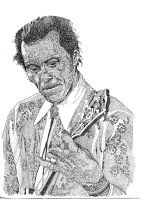 Portrait of Chuck Berry by Hannah0107