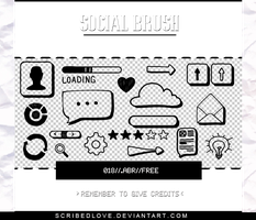 +Social Brush|FREE by ScribedLove