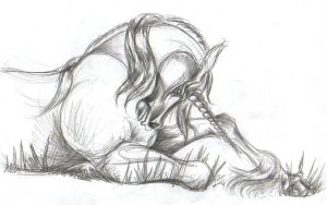 Unicorn At Rest by Skymouth