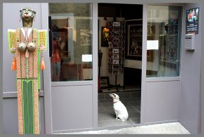 Dog shopping by DormirReverPeutEtre