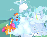 Rainbow Dash and Scootaloo by Passionateshadow