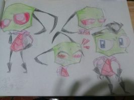 Zim doodles :3 by greendrawer