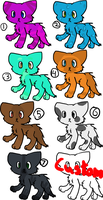 Cat adoptables. Name your price. by TundraIceadopts