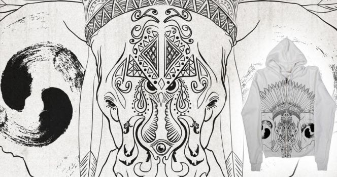 Indian Elephant by Sh000rty