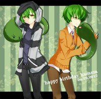 Happy Birthday Hazama 2012 by on-a-leash