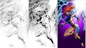 Jean Grey pencils inks XGX-d by knytcrawlr
