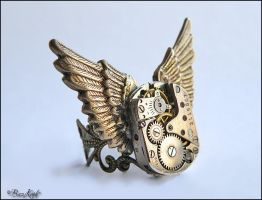 Wright Flyer - Steampunk Ring by BaziKotek