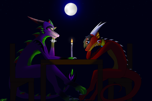:Collab: Silly date by Deathtail-The-DraCon