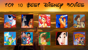 My Top 10 Disney Movies Meme by DisneySquirrelGem