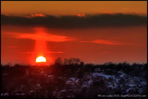 Sun Pillar by FramedByNature