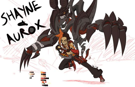 Shayne and Aurox WIP by Logical-Cogs