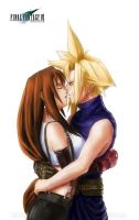 Cloud x Tifa : Kiss me by Moorzz