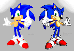 Sonic Pixel dif. color sheet by nothing111111