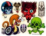 Race To The Death Tattoo Flash by MonsterInk