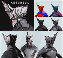 Arturius alternate Excalibur helmet (Warframe) by Syncrasis