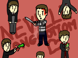 Chibi Nevilles everywhere :3 by CardiGirl28