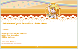 SMC: Sailor Venus Journal Skin by Meinona