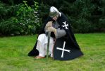 Hospitaller praying by Dewfooter